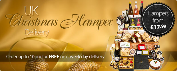 UK Christmas Hamper Delivery - Order up to 10pm for FREE next-weekday delivery to any mainland UK address.